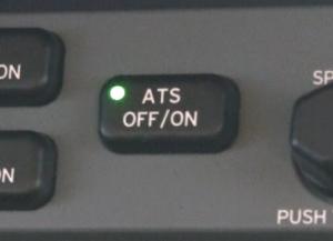Eclipse autothrottle OFF/ON button