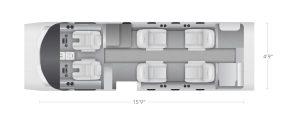AEROCOR - Learning Center - Cessna Citation CJ1 - 6 Seat Configuration