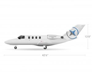 AEROCOR - Learning Center - Cessna Citation CJ1 - Side View