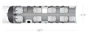AEROCOR - Learning Center - Cessna Citation CJ3 - 9 Seat Configuration