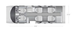 AEROCOR - Learning Center - Cessna Citation M2 - 8 Seat Configuration 2
