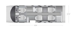 AEROCOR - Learning Center - Cessna Citation M2 - 8 Seat Configuration