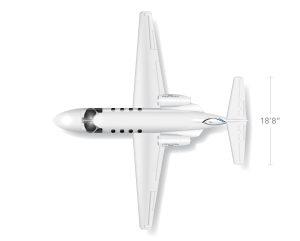 AEROCOR - Learning Center - Cessna Citation M2 - Top View