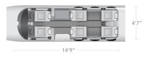 AEROCOR - Learning Center - Cessna Citation Mustang - 6 Seat Configuration