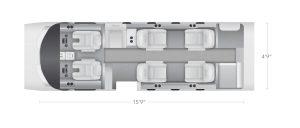 AEROCOR - Learning Center - Cessna CitationJet - 8 Seat Configuration