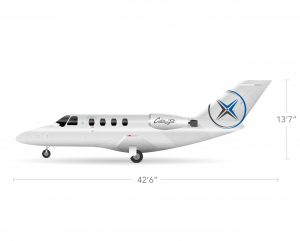 AEROCOR - Learning Center - Cessna CitationJet - Side View