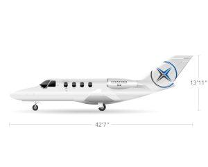 AEROCOR - Learning Center - Cessna Citation M2 - Side View