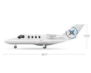 AEROCOR - Learning Center - Cessna Citation CJ1+ - Side View